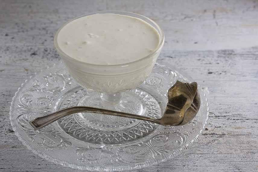 lactose-free sour cream horseradish sauce