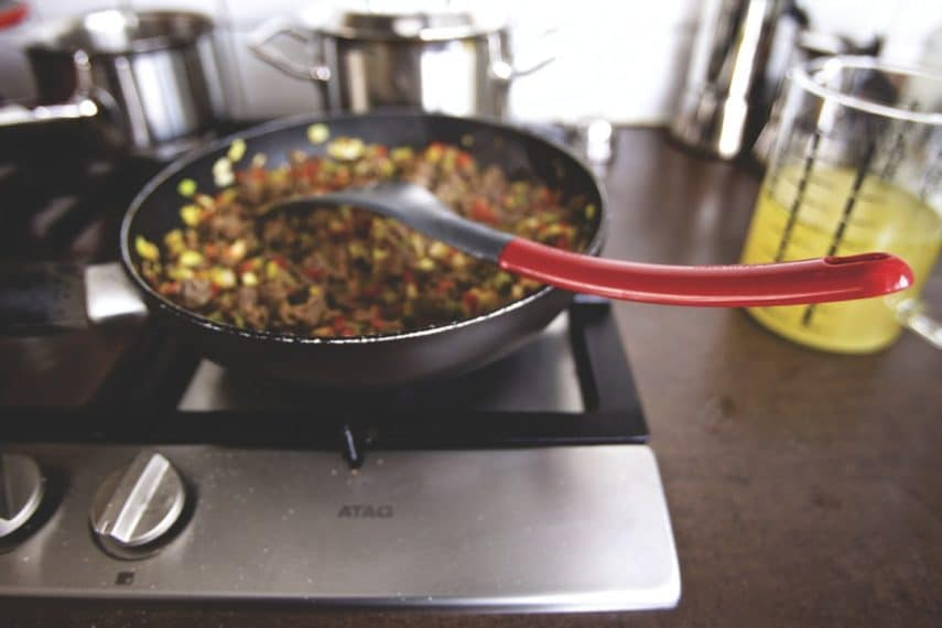 IBS and Yoga Series: Kitchen Yoga- a pan of food cooking on a stove top