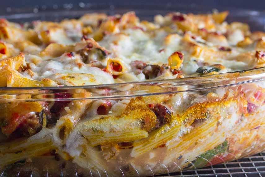 baked ziti in pan