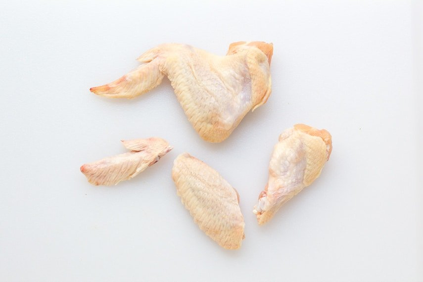 chicken wings cut up into 3 pieces