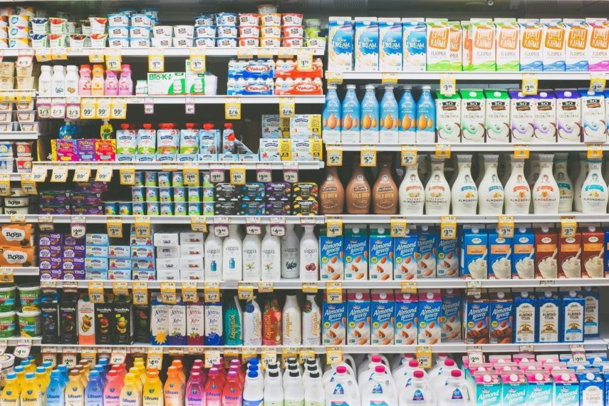 Lactose, Dairy and the Low FODMAP Diet- the dairy section at the supermarket