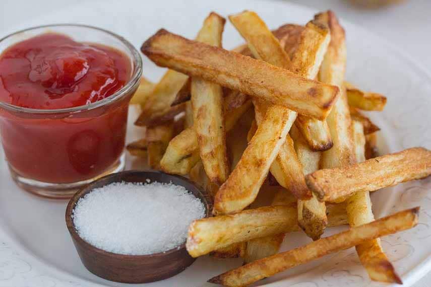 best oven baked fries closeup