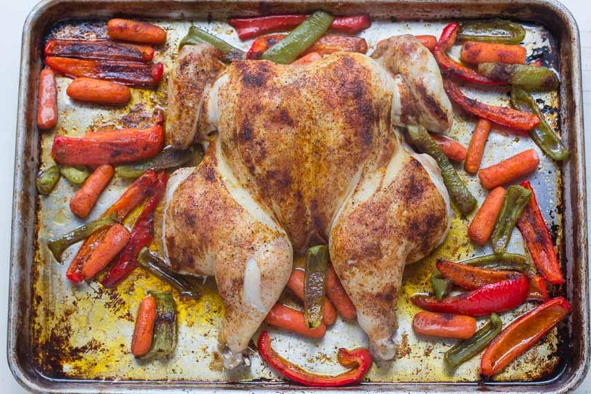 spatchcock chicken berbere