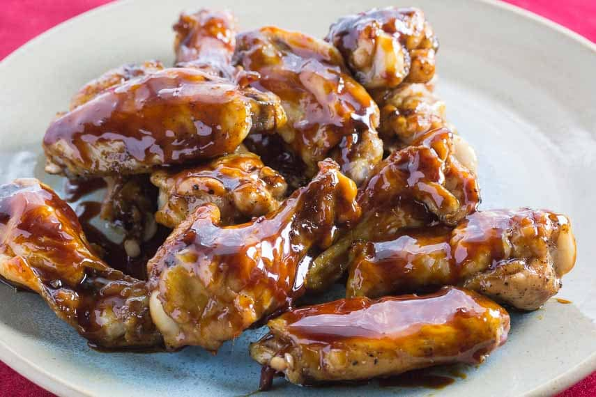 Sticky Maple Ginger Soy Glazed Chicken Wings