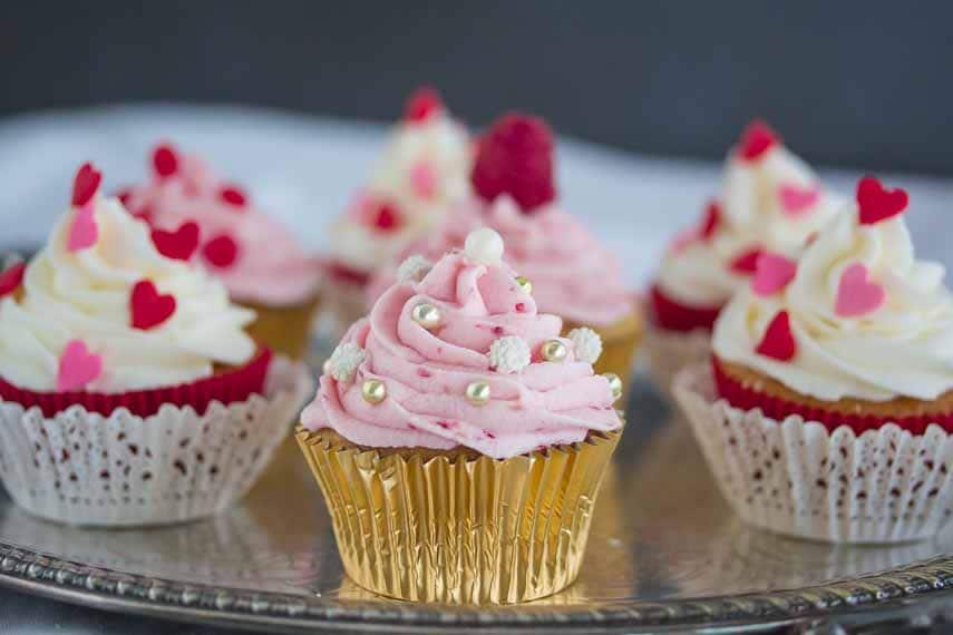 Valentine's Cupcakes closeup