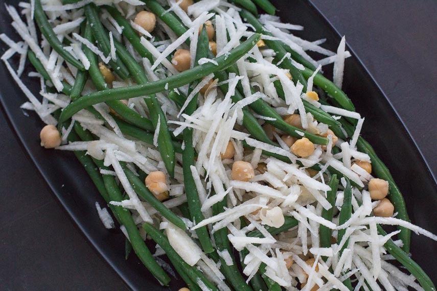 Fresh Green Bean, Chickpea & Jicama Salad