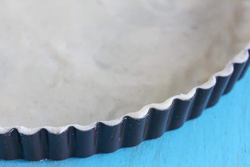 Crostata & Tart crust, rolled and in fluted tart pan