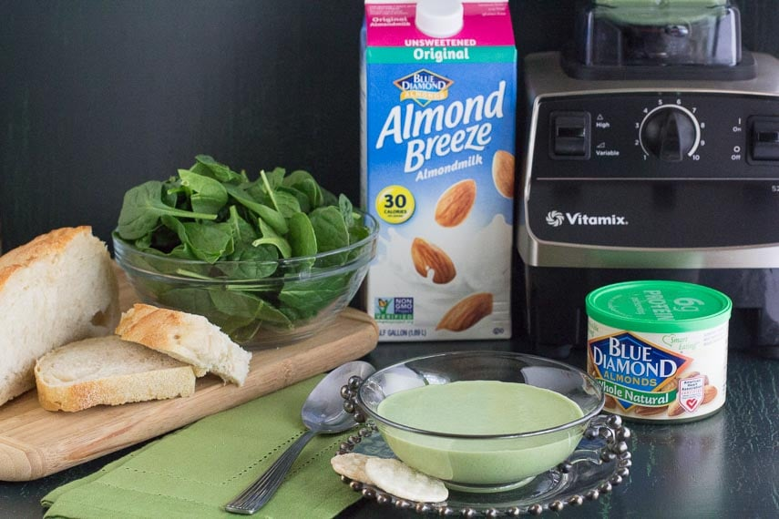 image for Blue Diamond products used to make cucumber gazpacho