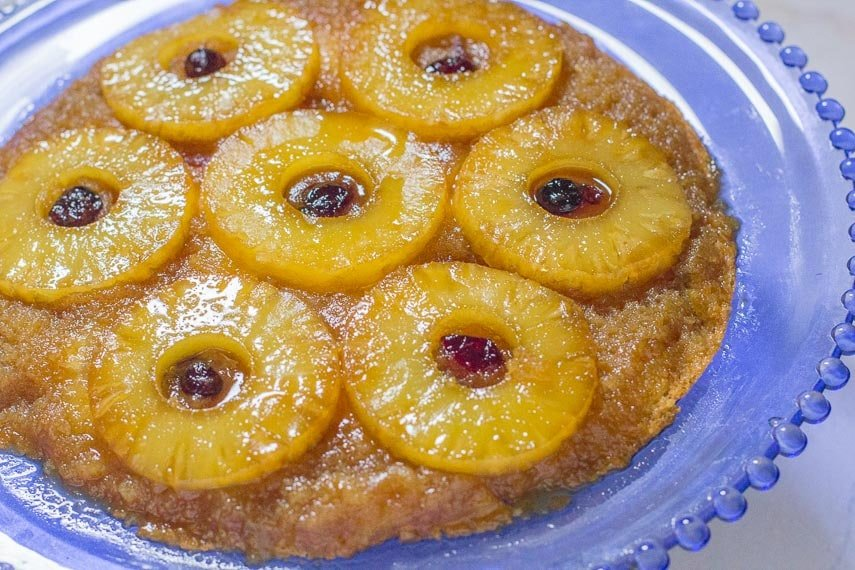 Pineapple Upside Down Cake No Skillet
