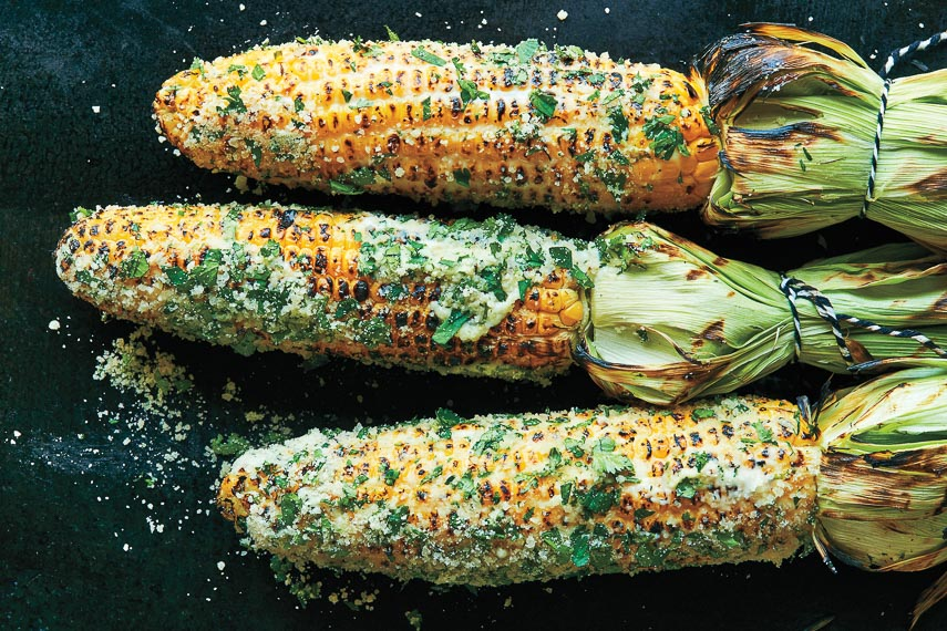 Mexican-Style Street Corn with Lime Mayo (c) David Malosh
