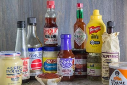 array of low FODMAP condiments