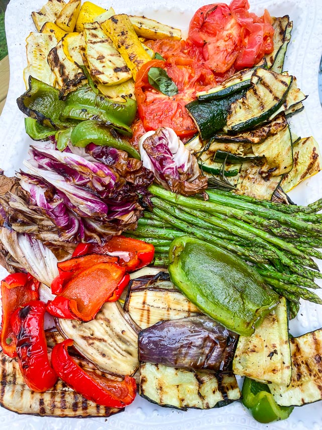 grilled vegetables including asparagus for non-FODMAPers