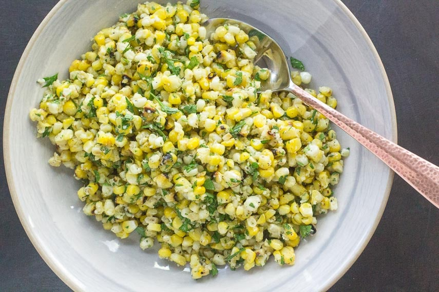 Grilled Corn Salad with Parmesan & Parsley