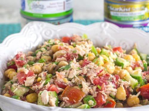 Low FODMAP Mediterranean Tuna Salad with Chickpeas - FODMAP Everyday