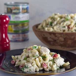 Low FODMAP Tuna macaroni salad