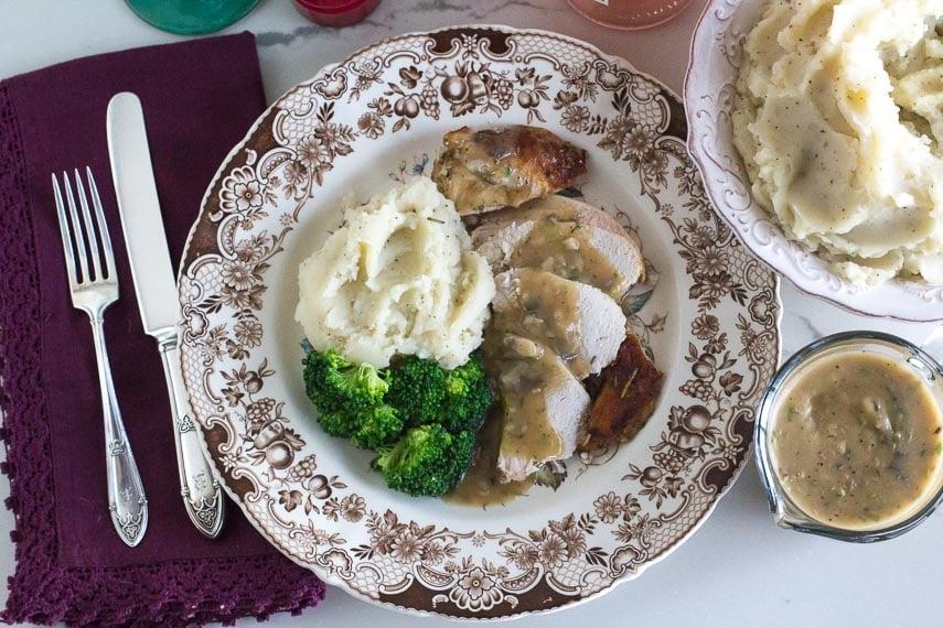 Low FODMAP slow cooker turkey overhead image