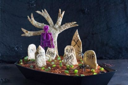 Low FODMAP spooky Graveyard 7 layer dip-2
