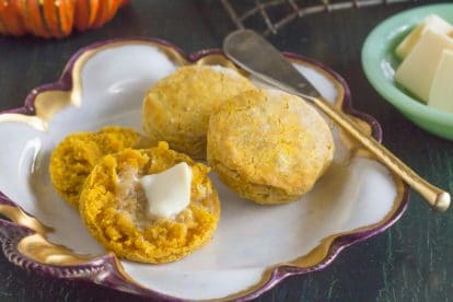 low FODMAP Pumpkin Biscuits with melting butter