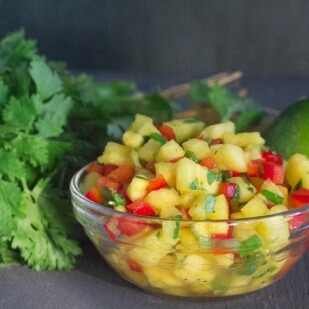 low FODMAP pineapple salsa