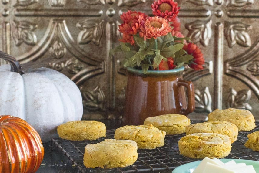 low FODMAP pumpkin biscuits cooling on rack