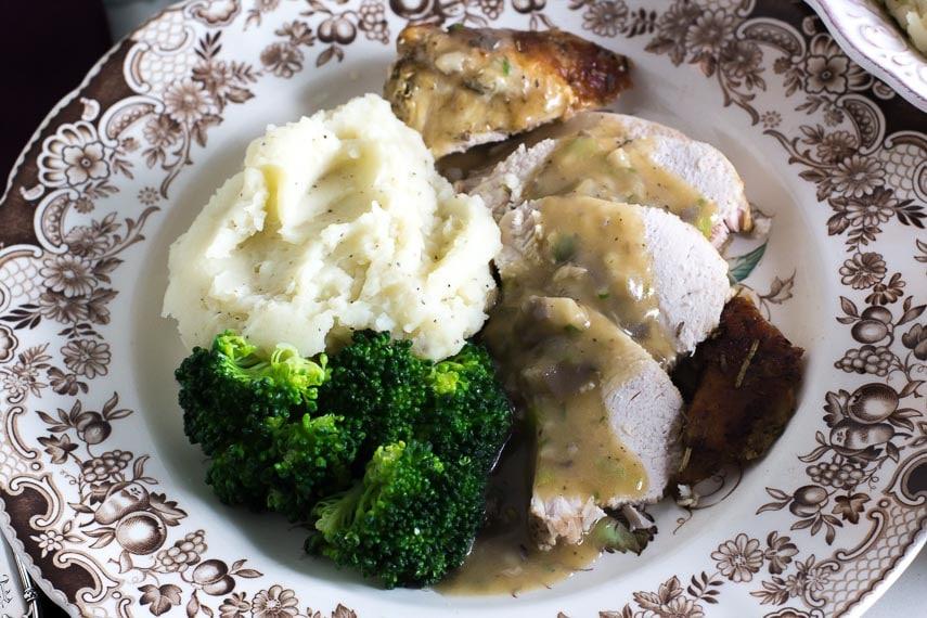 low fodmap slow cooker turkey, plated