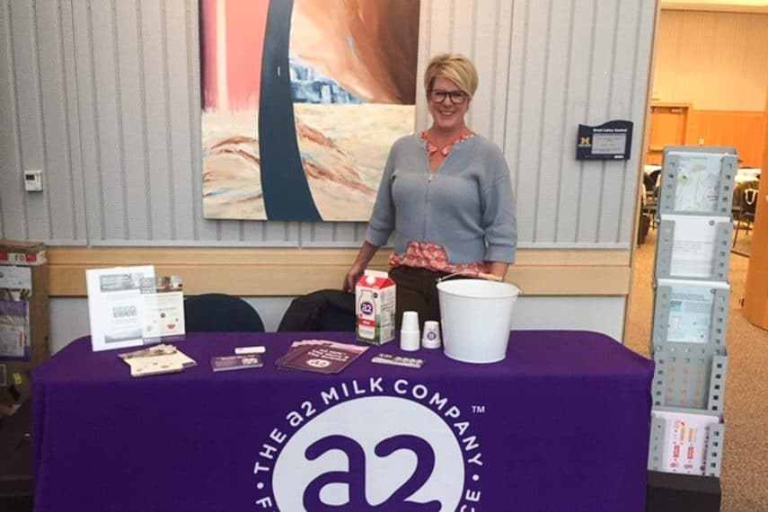 A2 milk display