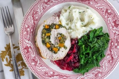 Low FODMAP Kale & Butternut Squash Stuffed Turkey Breast