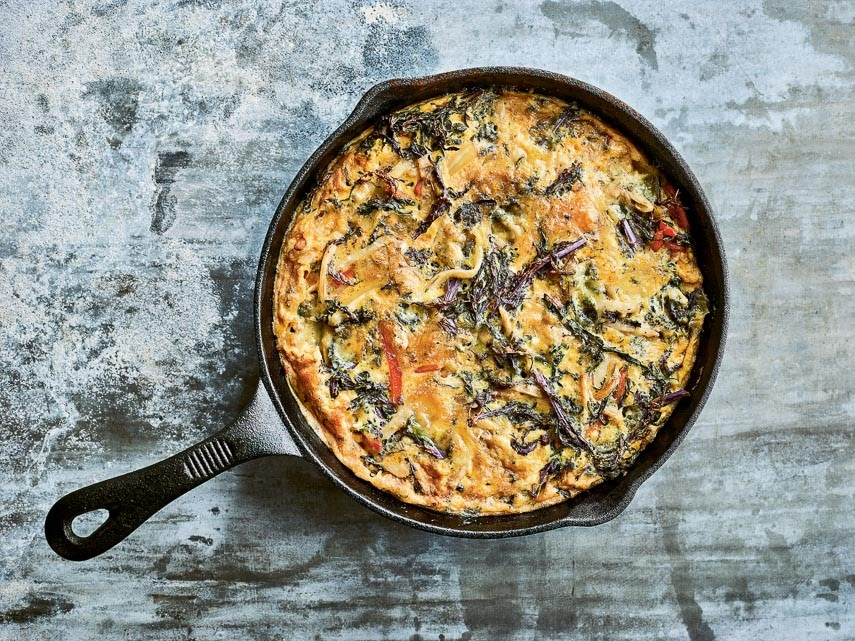 Winter Vegetable Frittata - Vegan and Low FODMAP