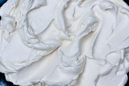 closeup of Italian Meringue Buttercream