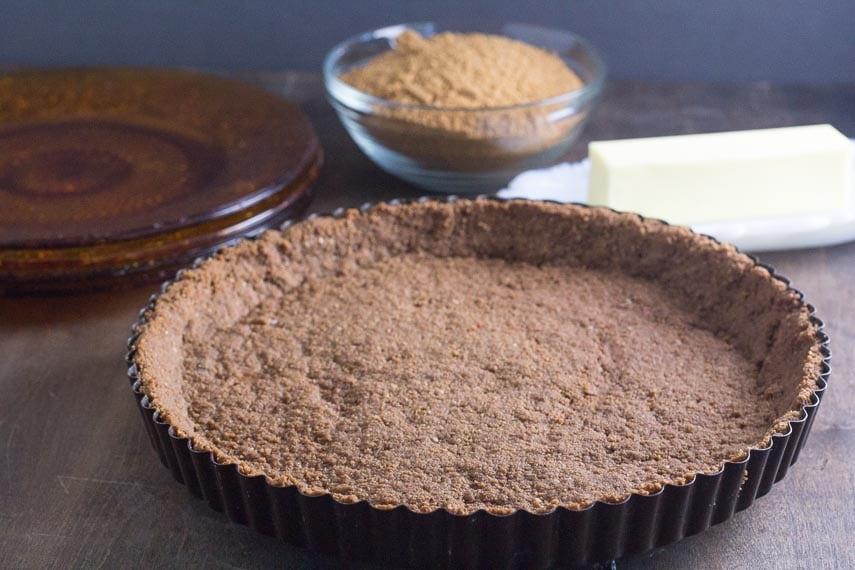 low FODMAP crumb crust in a tart pan