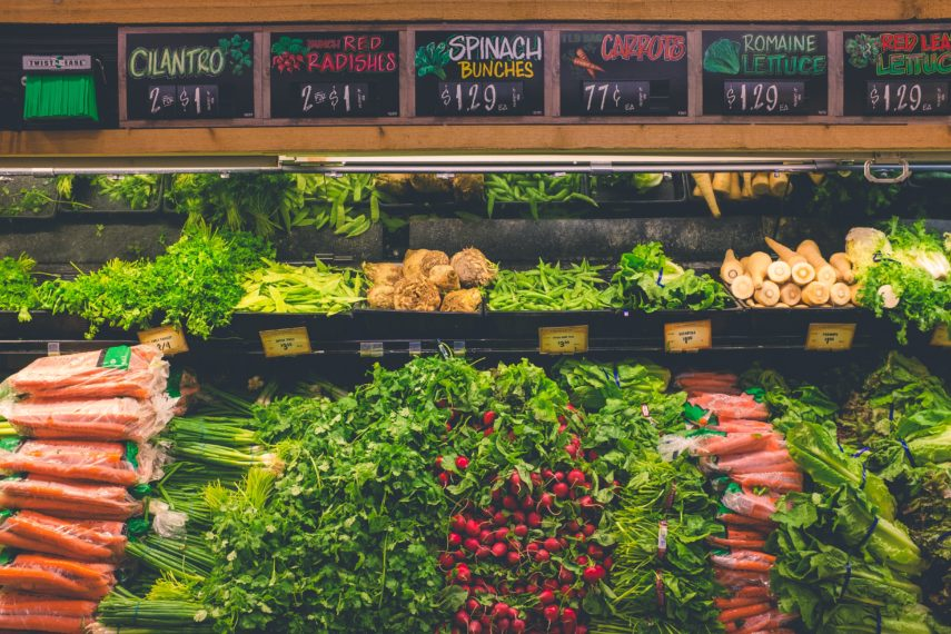 Navigating the Supermarket for Low FODMAP products - produce section