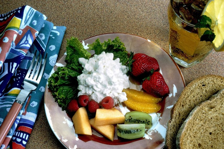 Fruit and Cottage Cheese plate