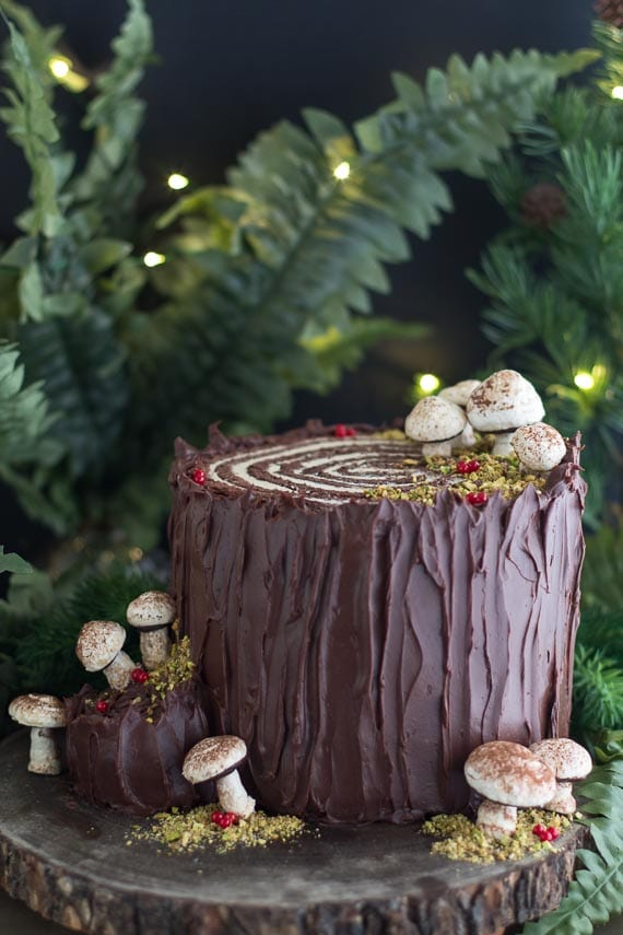 vertical souche de noel (Christmas stump) image
