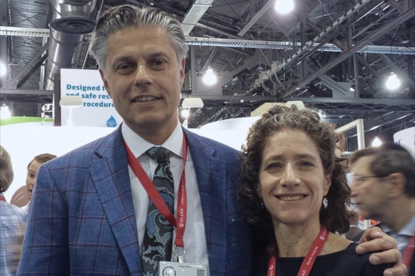 Erica Ilton RDN and Dr. Pimentel at the 2018 ACG meeting