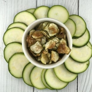 Mollie from FitFabFODMAP - baked zucchini chips