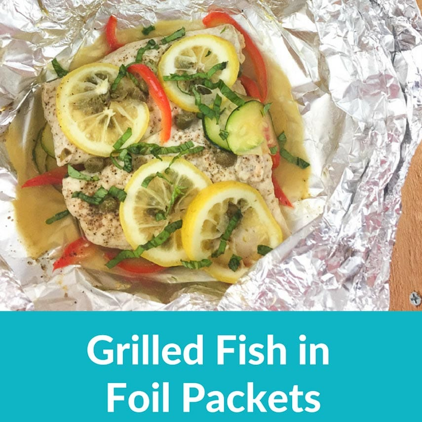 grilled fish in foil packets