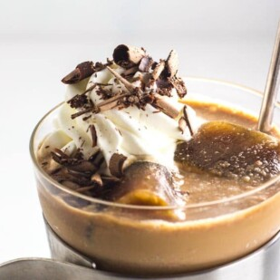 main image of low fodmap mocha vodka frappuccino