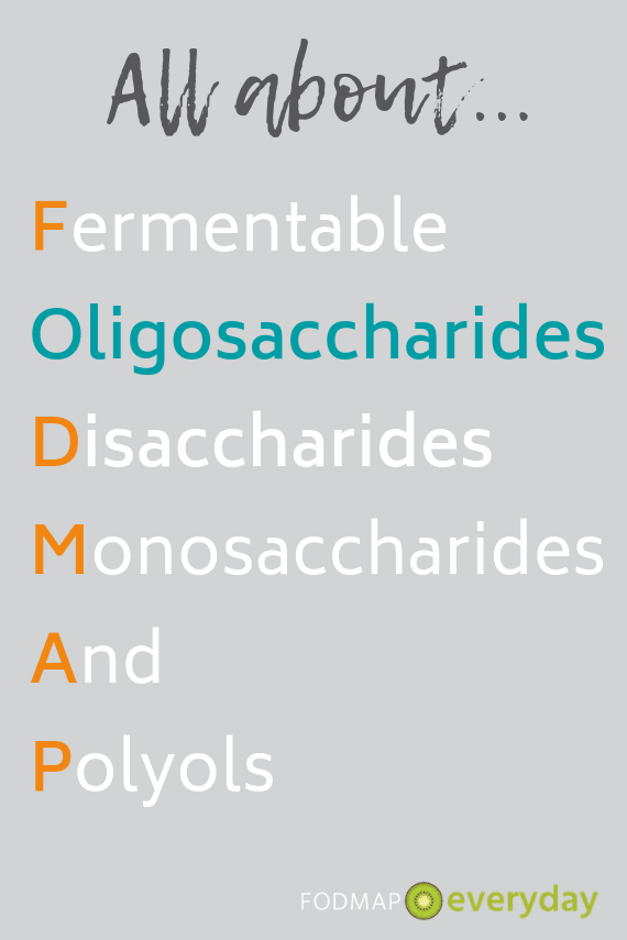 FODMAP graphic highlighting Oligosaccharides