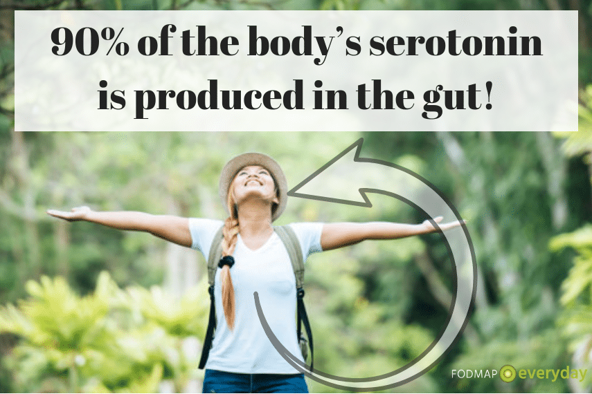 The Gut-Brain Connection: It's Not All in Your Head - 90% of the body's serotonin is produced in the gut!