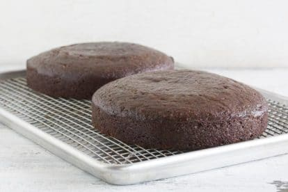 Easy Low FODMAP Chocolate Cake on cooling rack