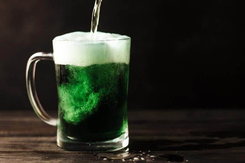 green beer for St. Patrick's Day - Low FODMAP St. Patrick's Day recipes