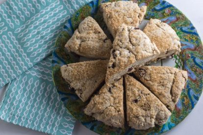 overhead of low FODMAP vegan scones
