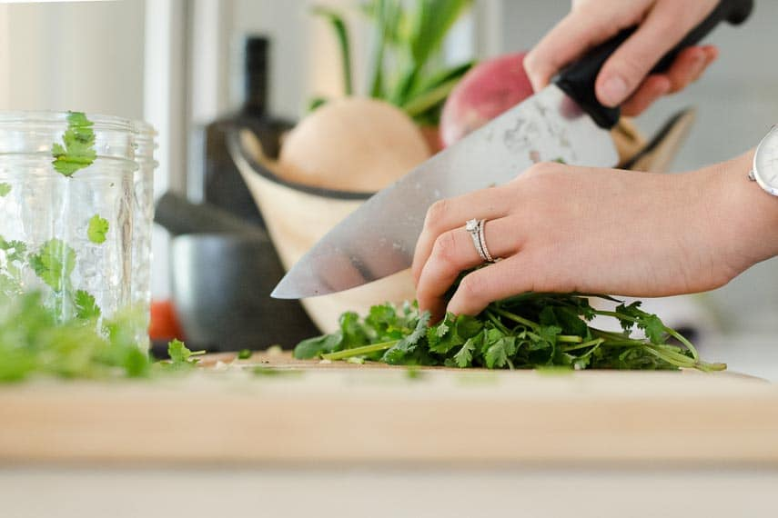 How Are Low FODMAP Recipes Created? prepping food