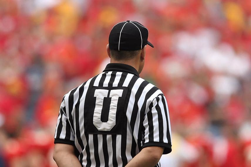 referee at Super Bowl