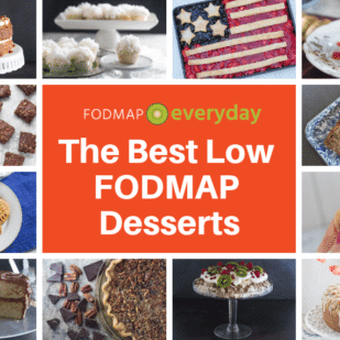 Cpllage of Low FODMAP Desserts