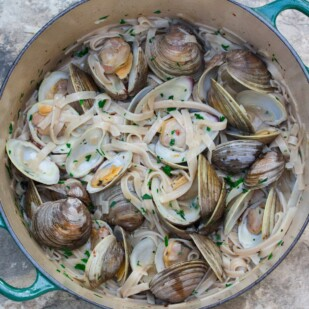 Low FODMAP Pasta with Clams & White Wine Sauce