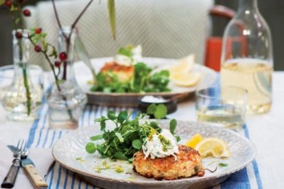 p119 cropped Salmon Fish Cakes with Horseradish Cream