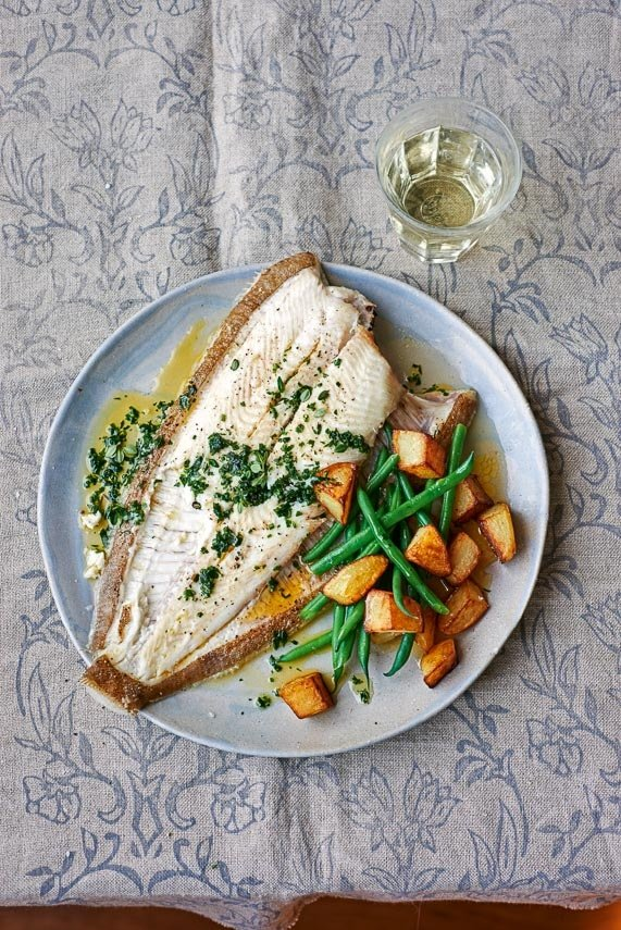 p98 Baked Summer Plaice with herb butter