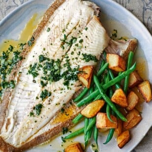 p98 cropped Baked Summer Plaice with herb butter