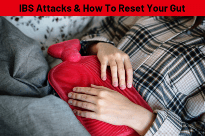 IBS Attacks - Girl laying on couch with hot water bottle